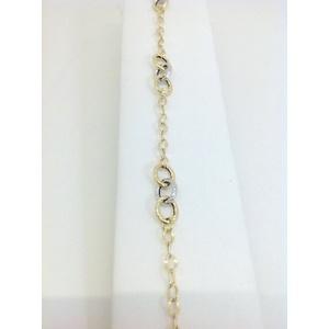 Bracciale Donna Oro Bianco E Giallo Grammi 2,4