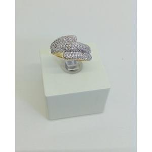 Anello oro giallo fascia con zirconi misura 16 grammi 2.8