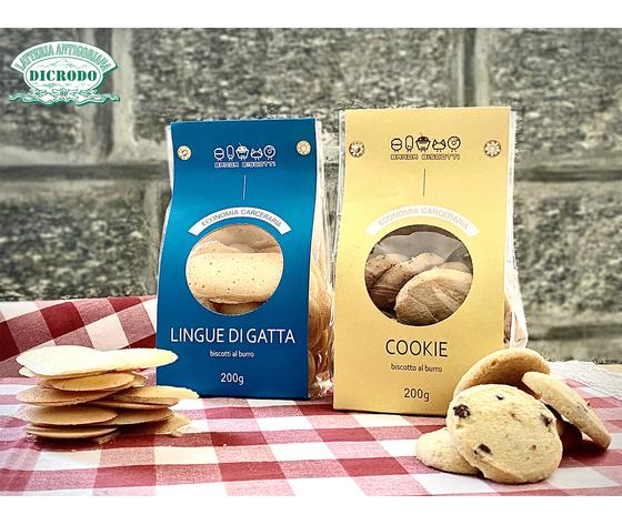 Biscotti lingue di gatta e cookie