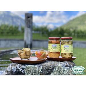 Due vasetti verdure in agrodolce 'La Prateria' Zucchine sott'olio + Giardiniera sott'olio