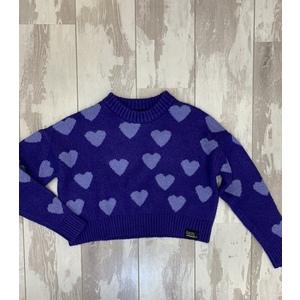 maglione corto cuori