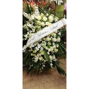 Cuscino funebre bianco