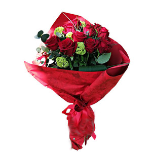 Fascio 12 Rose rosse medie