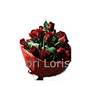 Bouquet 15 rose rosse ben confezionato con verdi di stagione