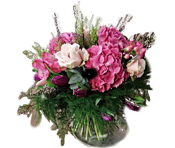 Bouquet rose ortensie
