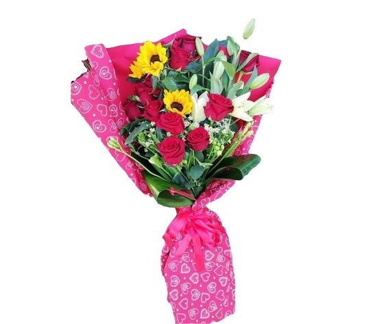 Girasoli rose lilium
