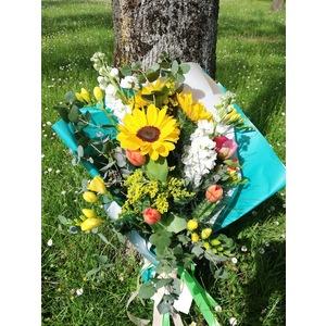 Mazzo Girasoli e fiori di stagione