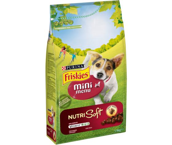 Friskies cane crocchette vitafit mini menu nutrisoft con manzo 1 4kg 1 12367512