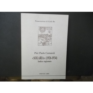 SOLARIA 1926-1934 INDICE RAGIONATO