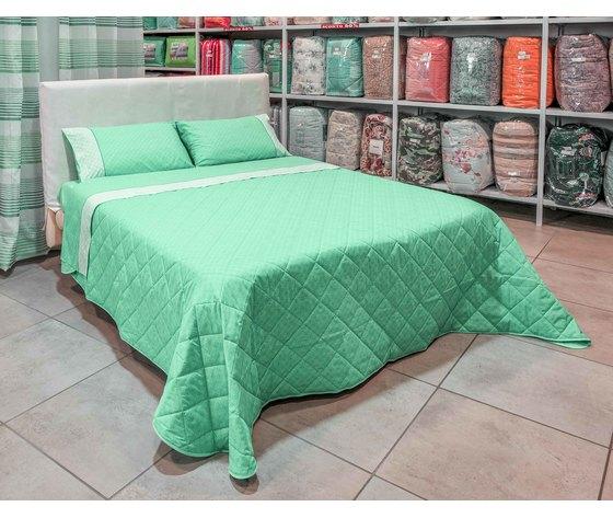 Copriletto Trapuntino Estivo Matrimoniale Mod Rub Colore Verde Bassetti Dream Vegas S R L
