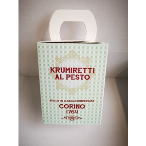 Scatola krumiretti al pesto confezione natale - 200 grammi