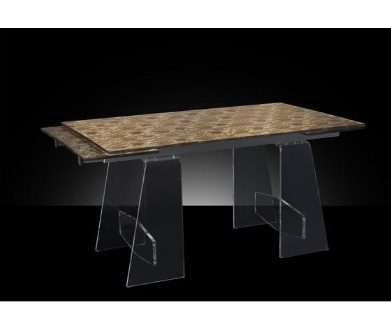 Art. 1510 tavolo allungabile semiaperto