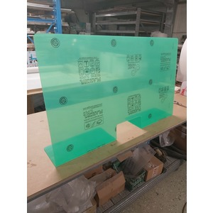 Divisorio in plexiglas