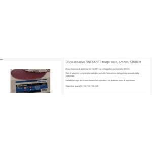 FINEXXNET carta abrasiva  K80 diam 225mm