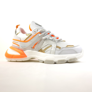 SERAFINI sneaker STELLA 03 vitello white gold orange