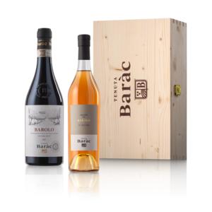 Barolo DOCG Cerviano-Merli 2015 + Grappa di Barolo in scatola di legno