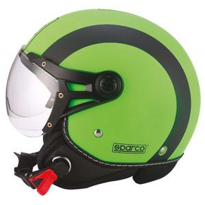 Casco Jet Sparco SP501 verde fluo/nero opaco