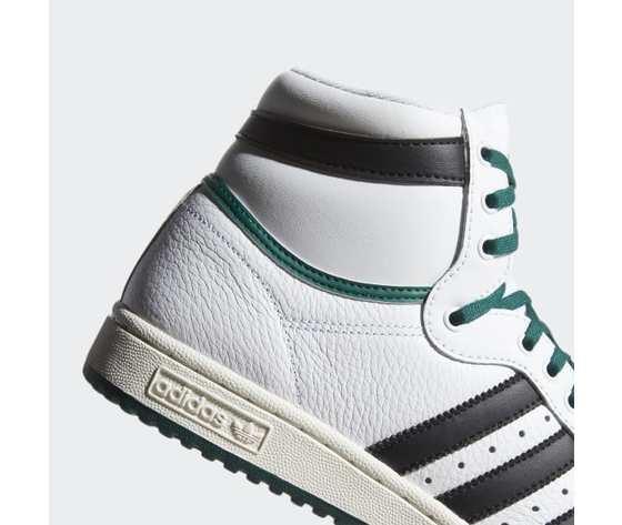 Ef6364  3 adidas top ten hi   cloud white  core black  collegiate green