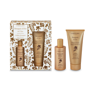 KIT CORPO BOUQUET D'ORO COMPOSTA DA BAGNOSCHIUMA 100 ML E PROFUMO DA 50 ML