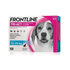 Frontline Tri-act per cani di peso tra 10 e 20 kg, 3 pipette 2 ml
