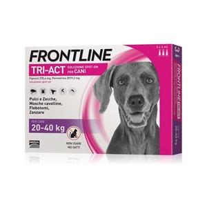 Frontline Tri-act per cani di peso tra 20 e 40 kg, 3 pipette 4 ml