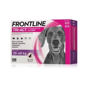 Frontline Tri-act per cani di peso tra 20 e 40 kg, 6 pipette 4 ml