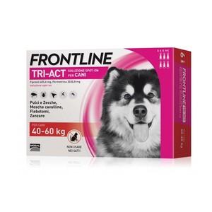 Frontline Tri-act per cani di peso tra 40 e 60 kg, 6 pipette 6 ml