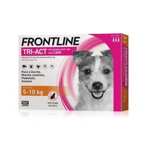 Frontline Tri-act per cani di peso tra 5 e 10 kg, 3 pipette 1 ml