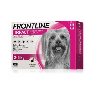 Frontline Tri-act per Cani tra 2-5 kg, 6 pipette da 0,5 ml