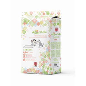 Ferribiella Assorbello Tappetini Igienici per Cani Flowers 60x60cm da 30 pz