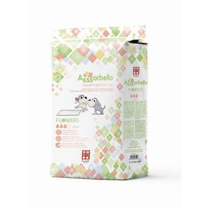 Ferribiella Assorbello Tappetini Igienici per Cani Flowers 60x60cm da 80 pz