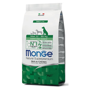 Monge Dog Puppy & Junior Maxi Pollo 3 kg