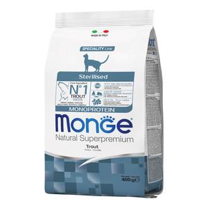 Monge Gatto Natural Superpremium Sterilizzato Monoproteico Trota 400 gr