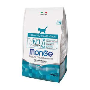 Monge Gatto Natural Superpremium Kitten ricco di Pollo 400 gr