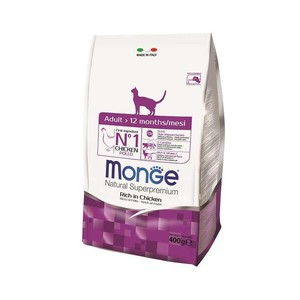 Monge Gatto Natural Superpremium Adult ricco di Pollo 400 gr