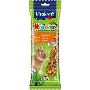 Vitakraft Kracker al Miele Snack Conigli Nani e piccoli roditori 2 Pezzi