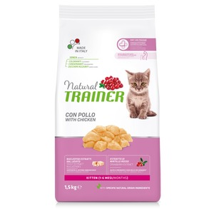 Trainer Gatto Natural Kitten Pollo 1,5 kg