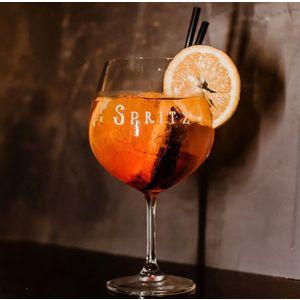 Set 2 calici cocktail decoro Spritz