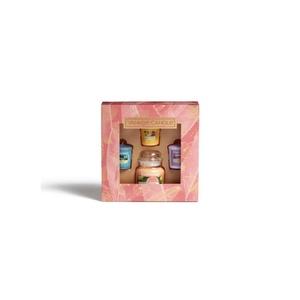 Confezione regalo con 1 giara piccola e 3 candele sampler