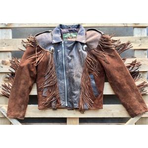 Fringed style western leather jacket