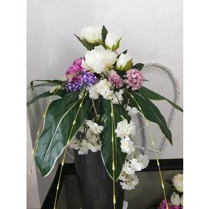 Composizione fiori artificiali per vaso