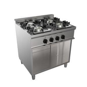 Cucina a gas a quattro fornelli su vano 700x700