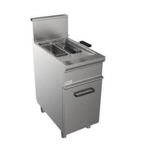 Friggitrice a gas- Due vasche 8+8 Litri- 400x700