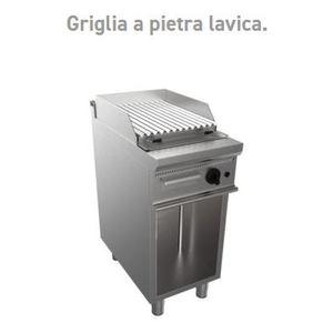 GRIGLIA A PIETRA LAVICA SU VANO A GIORNO 400X700X850H