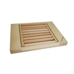 B&M Tagliere raccogli briciole in legno di faggio massello dim. cm 40x30x4