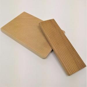 B&M 2 Riga gnocchi in legno di faggio massello dim. cm 21x13.5x2 cm 6.5x20x1.5