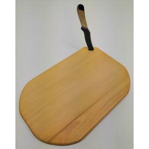 B&M Tagliere per pinsa romana in legno di faggio massello cm 36x24 con coltellino Italiano