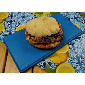 B&M Vassoietto aperitivo in Legno di faggio Blu Dim. cm 28x15x1,2