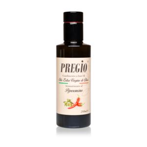 PREGIO Condimento a base di olio extra vergine di oliva aromatizzato al PEPERONCINO 250 ml