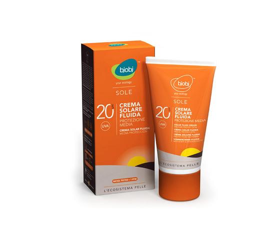 Bjobj bjobi crema fluida solare protezione media spf 20 125 ml filtro minerale naturale senza filtri chimici solari 3563 zoom